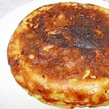 鶏レバーの煮汁と野菜天といわし半月でお好み焼き