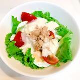 レタスとゆで卵とピリ辛ツナの☆簡単サラダ