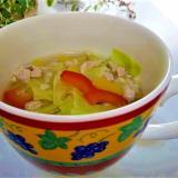 野菜たっぷり!もち麦と鶏肉の五香粉スープ
