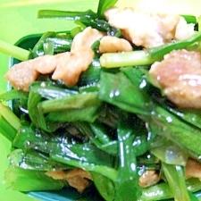 豚肉とニラのオイスター炒め