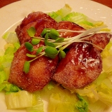 オイスターソースが決め手☆鮭の中華揚げ白菜添え