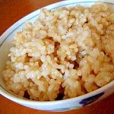 圧力鍋で玄米炊飯♪