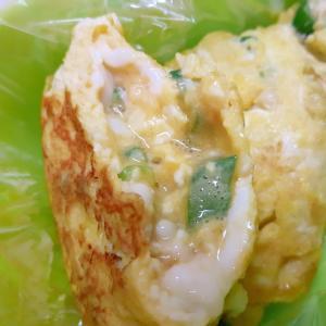 お弁当に(^^)オクラと大豆パウダーの卵焼き♪