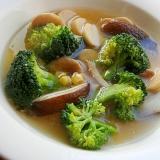 5分!?ブロッコリー&きのこ2種の味噌スープ♪