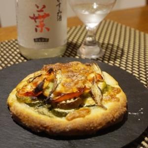 米粉でクリスピー夏野菜ピザ