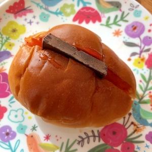 板チョコとジャムのロールパン☆