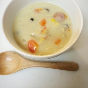 牛乳と小麦粉でシチュー風に☆きのことお野菜のスープ