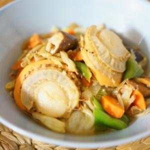 残り野菜で!ホタテとベーコンのちゃんちゃん焼き