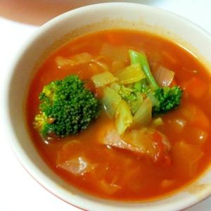 トマト缶で野菜たっぷりミネストローネ