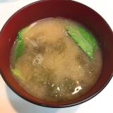 夏限定☆モロヘイヤとイギスの味噌汁