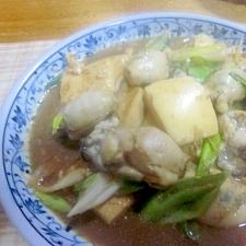 牡蠣と豆腐の味噌煮