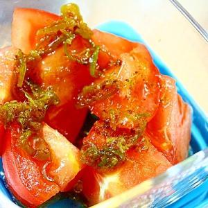 トマトのねぎ醤油がけ*湯豆腐のたれで・・・