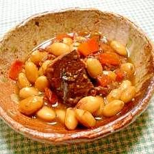 缶詰クッキング☆サバと大豆の煮物