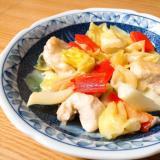鶏むね肉とキャベツと人参の炒め物