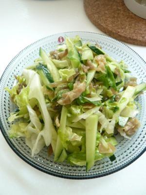 ザーサイ入りの中華サラダ