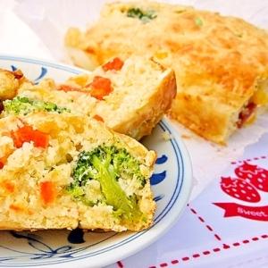 冷凍野菜&ナツメグde子供も沢山食べれるケークサレ