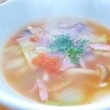 春キャベツのあっさりスープ
