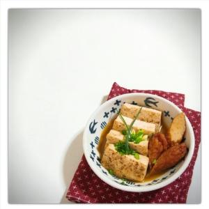 焼き豆腐とさつま揚げの簡単煮物