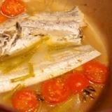 スープを飲み干したい、タチウオのアクアパッツァ