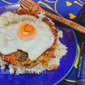 【カレー】ごま高菜の簡単ドライカレー