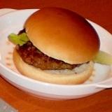 おからバーグで手作りハンバーガー