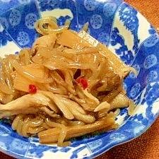 舞茸とメンマの炒り煮