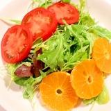 マンダリンオレンジドレッシング&オレンジのサラダ