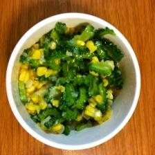 ゴーヤとコーンの塩麹サラダ