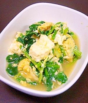 栄養満点★子供も食べれる★ほうれん草と豆腐の卵とじ