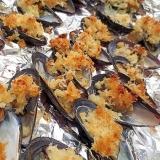 ムール貝のパン粉焼き