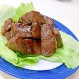 自家製タレで焼く 牛肉のさいころステーキ