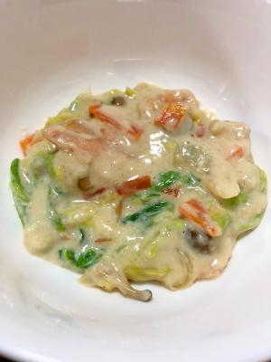【幼児食】取り分け可能!白菜と鮭のクリーム煮♪