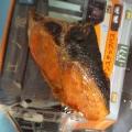 鮭のにんにくソースでムニエル