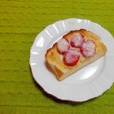 苺&カスタードトースト