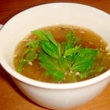 セロリの味噌スープ
