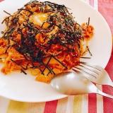 ピリリと辛い豚キムチパスタ