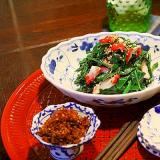 酢ダコと青菜のナムル