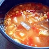 トマト缶とサバ缶で【トマトのデトックススープ】