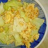 春キャベツと卵のたらこ炒め