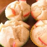 簡単!りんごの米粉蒸しパン