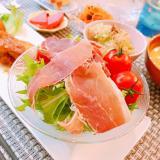 簡単♪生ハムと水菜のサラダ