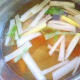 ネギ&人参&鶏のスープ