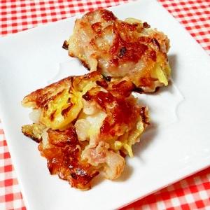 簡単☆お好み焼き粉で!キャベツと豚肉の落とし揚げ