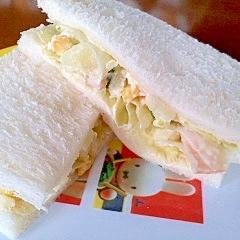 残ったポテサラで☆サンドイッチ