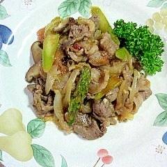牛肉とトマト、玉葱の炒め物