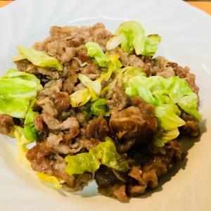 *牛肉とキャベツの甘辛味噌炒め*簡単で美味しい〜
