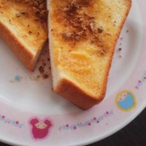 大人のランチに♪簡単♪ラム酒黒糖トースト