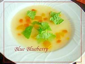 栄養満点 野菜スープ、三つ葉添