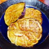 賀茂茄子のオリーブオイル炒め