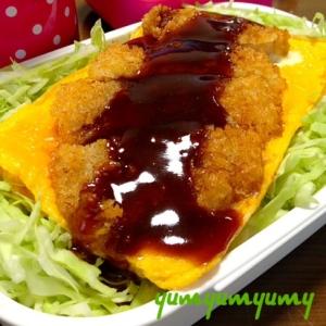 ソースカツ丼(福島ver.)です☆玉子焼きが絶妙♪
